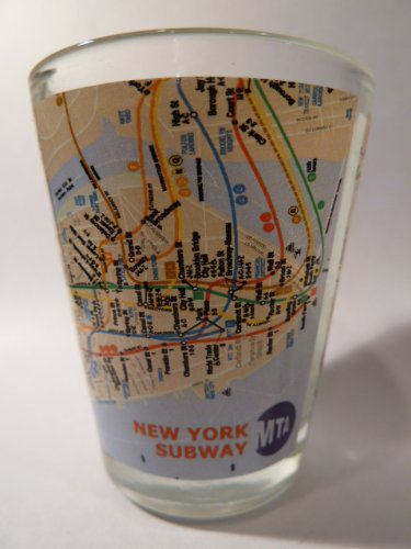 New York City Subway Map Shot Glass