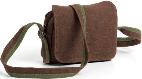 Ecolution Hemp Fabric The Day Hiker 2 1/2 X 5 X 7 1/2, Acorn with Oasis Trim (Waterproof) Shoulder Bag