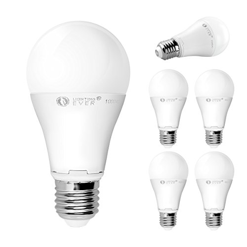 Le 12W A19 E27 Led Light Bulbs, Brightest 75W Incandescent Bulbs Equivalent, 1050Lm, Daylight White, Medium Screw, Pack Of 5 Units