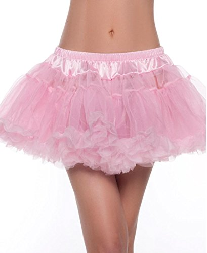 Be Wicked BW889P Women's Light Pink Kate Layered Petticoat - One Size - Light Pink