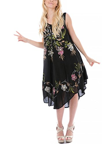 Women's Floral Embroidered Shift Dress, 119