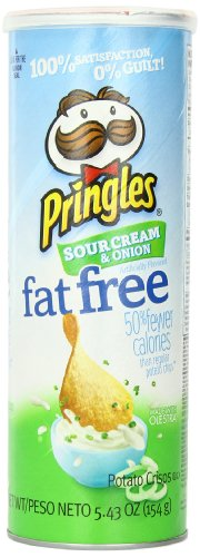Pringles Fat Free Sour Cream and Onion Super Stack, 5.43 Ounce