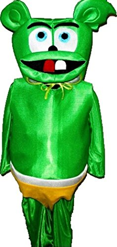 Gummy Bear Suit Cartoon Mascot Costume Carnival Uniform Halloween 8 Years Old