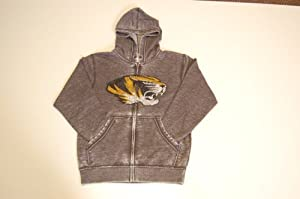 Missouri Tigers Adult Full Zip Ball Carrier Hooded Sweatshirt by Majestic