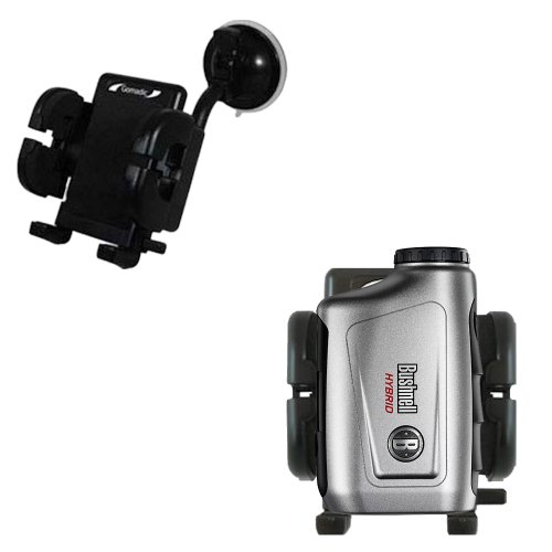 Bushnell Hybrid Laser Gps Compatible Windshield Mount For The Car / Auto - Flexible Suction Cup Cradle Holder For The Vehicle