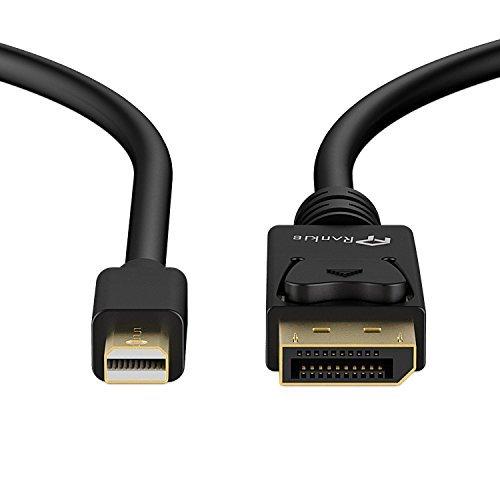 Rankie 金メッキコネクタ搭載 Mini DisplayPort   Thunderbolt™ Port → DisplayPort 変換ケーブル 2m (ブラック)