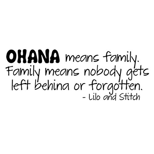Joylive Ohana Means Family Lilo And Stitch Vinyl Wall Quote Decal Home Decor Sticker (Ohana Decal compare prices)