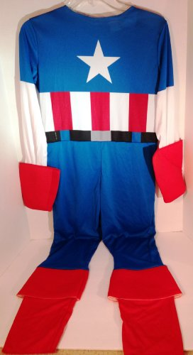 Boys Halloween Costume-Captain America Size L 10 12 - 1