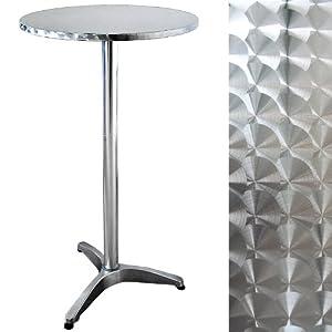 Table de bar ronde mange debout aluminium cuisine maison - Table haute ronde cuisine ...