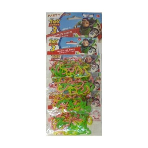Disney Pixar Toy Story 3 Series 2 Character Bandz Elastic Bracelets 4-Pack - 1