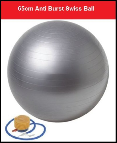 IQI FIT Gym Ball Swiss Ball Exercise Ball 65cm FREE Pump. Anti-Burst
