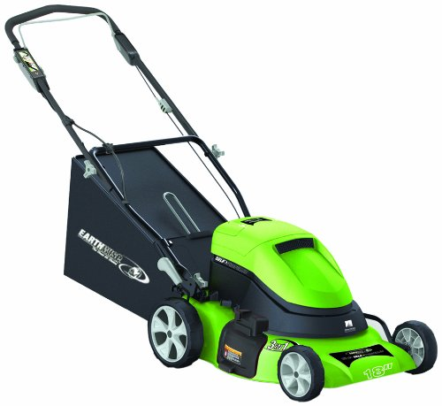 Earthwise 60318 Cordless Self-Propelled Electric Lawnmower, 18-Inch