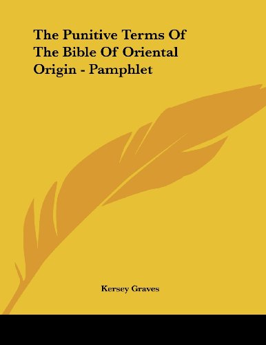 The Punitive Terms of the Bible of Oriental Origin - Pamphlet