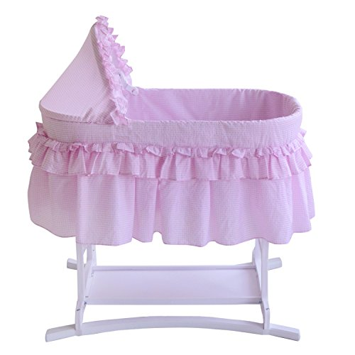 Lamont Limited Home Bassinet, Half Skirt, Pink