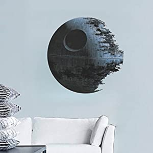 DDU(TM) Durable Black Earth Star Wars Lovely Vogue Room Decor Art Decal DIY Wall Sticker