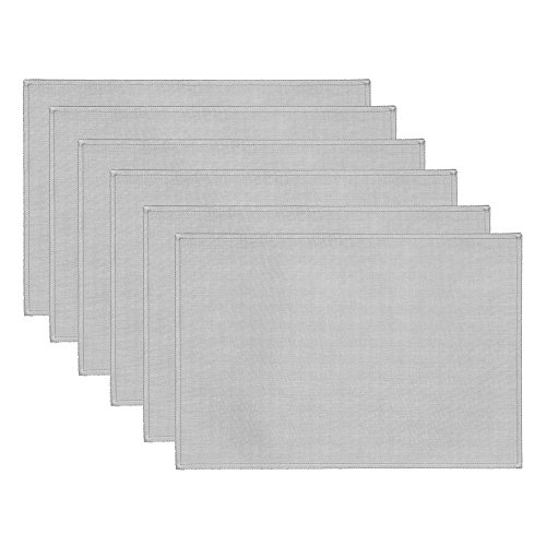Rose Tree Pearl Placemats, Silver, 6-Pack