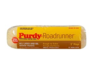 Purdy 140654095 Roadrunner 50/50 Lambswool/Polyester Blend Roller Cover with 1-1/4-Inch Nap, 9-Inch