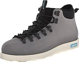 Native Shoes Unisex Fitzsimmons Dublin Grey/Bone White Boot Men\'s 9, Women\'s 11 Medium