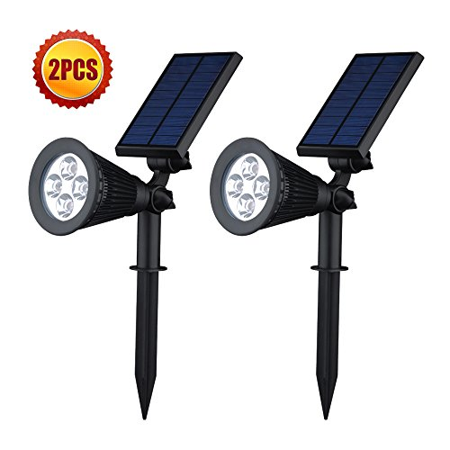 [Upgraded 200 Lumens] VicTsing 2Pcs Sun Powered LED Panorama Lighting fixtures Water resistant Out of doors Landscaping Lighting fixtures Bulb Highlight for Tree Driveway Garden Pathway Lawn