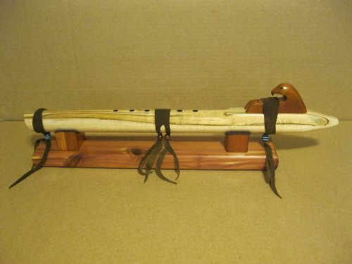 Native American Flute - Spaulted Maple Wood - Key of Low D - Handmade... with stand and travel bag