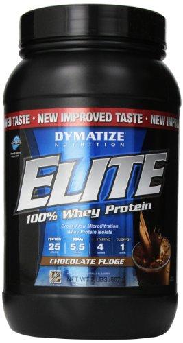 Dymatize Nutrition Elite Whey Shake, Chocolate Fudge, 2 Pound
