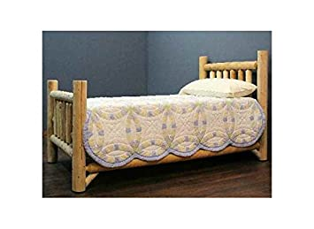 Rustic Appeal Low Bed (Twin in Unfinished)