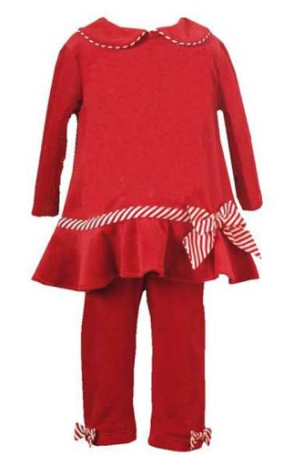 New Candy Cane Striped Holiday Pant Set (12M to 4T) Holiday Christmas