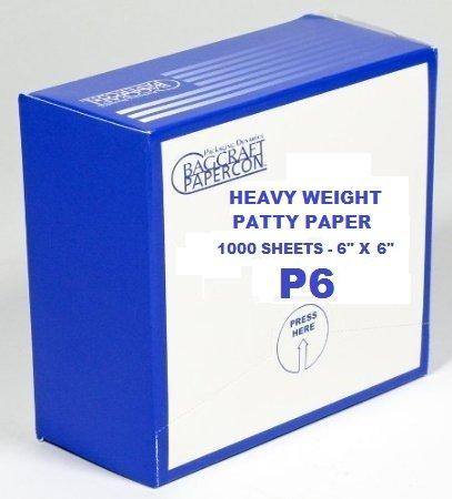 Hamburger Patty Paper, Heavy Weight, Box of 1000 Sheets, 6