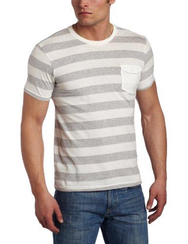 Ben Sherman Men's Short Sleeve Sueded Block Stripe Tee