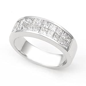 Platinum Invisible set Diamond Band Ring (G-H/VS, 1 1/5 ct.), 5.5