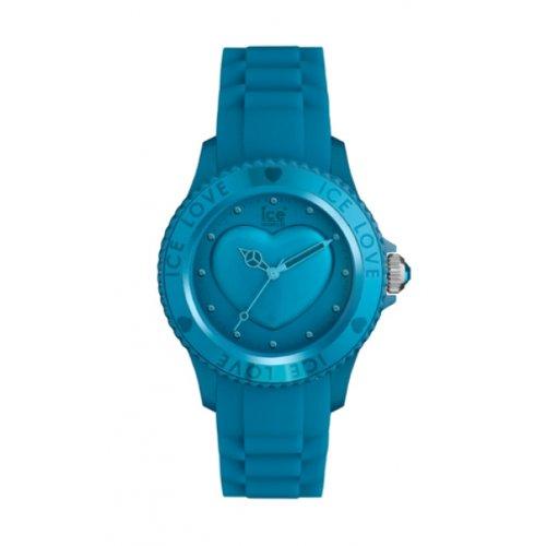 Ice Watch - LO.FB.U.S.11 - Ice Love - Montre Mixte - Quartz Analogique - Cadran Bleu - Bracelet Silicone Bleu - Moyen Modèle