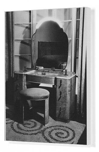 Canvas Print Of Art Deco Dressing Table front-964636