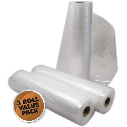 """Vacuum Sealer Rolls 3Pk 22""""X8"""""""