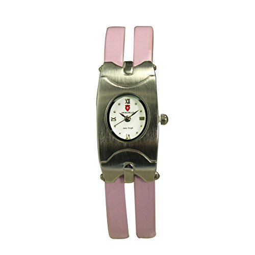 Svviss Bells Stylish White Dail Pink Dual Strap Watch for Women (multicolor)
