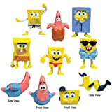Spongebob Cake Toppers / Cup Cake Decorations Set of 8 Figurines *