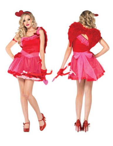 Adult-Costume Kiss Me Cupid Xs Halloween Costume - Adult Extra Small