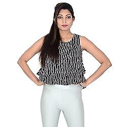 Danzon Women's Top (SLS00506_Black White_Free Size)