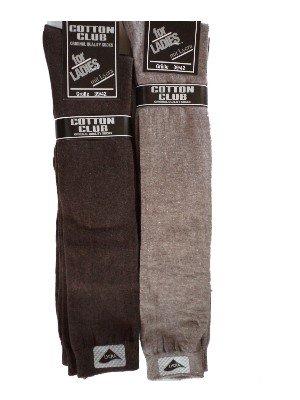 3 paia di calze in cotone Cotton Club mantrailing al ginocchio Beige 39/42 gr. + 43/46 Braun-Mocca
