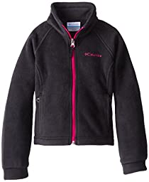 Columbia Little Girls\'  Benton Springs Fleece, Black/Groovy Pink, X-Small
