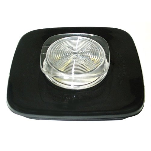 Black jar lid and center cap for Oster & Osterizer blenders.