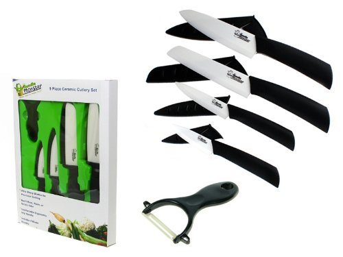 Bundle Monster Complete Series - 9 piece Ceramic Cutlery Knives Set (6