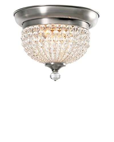 Gold Coast Lighting Newbury 2-Light Pewter Flush Mount, Antique Pewter