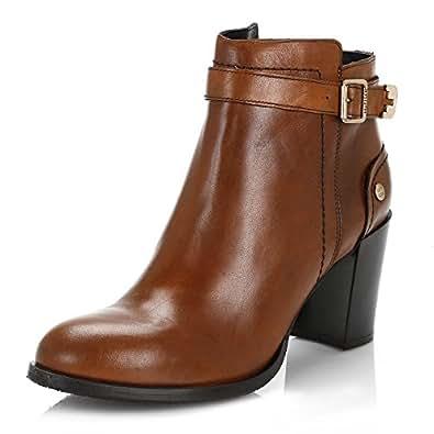 tommy hilfiger femmes cognac penelope 3a cuir ankle bottes chaussures et sacs. Black Bedroom Furniture Sets. Home Design Ideas