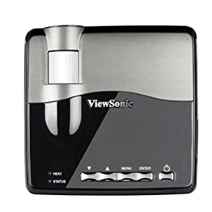 View Sonic PLED-W200 WXGA Front Projector, 300 Inches - Black