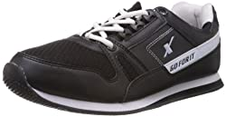 Sparx Mens Black and White Running Shoes - 7 UK (SM-176)