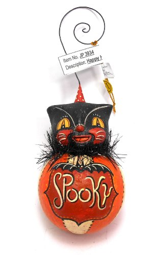Johanna Parker Spooky Black Cat Halloween Ornament