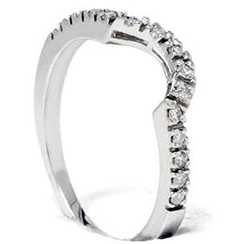 25ct-Curved-Real-Diamond-Notched-Wedding-Ring-Enhancer-10K-White-Gold-10-Karat