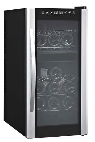 Avanti 18 Bottle Dual Zone Thermoelectric Wine Cooler W/Glass Door / Stainless Steel Handle