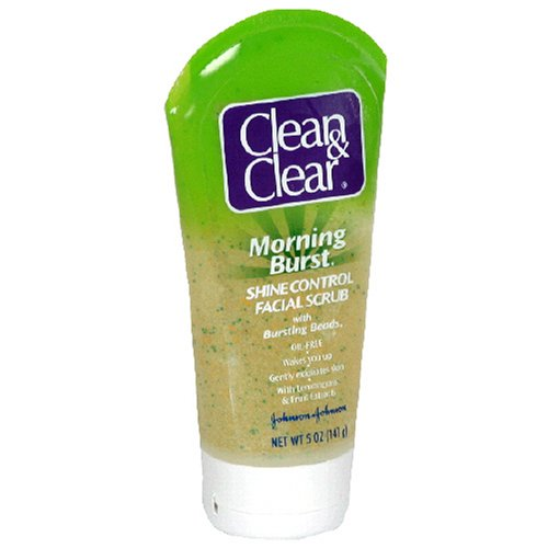 Clean & Clear Morning Burst Shine Control Facial Scrub, 5Ounce Tubes (Pack of 3)