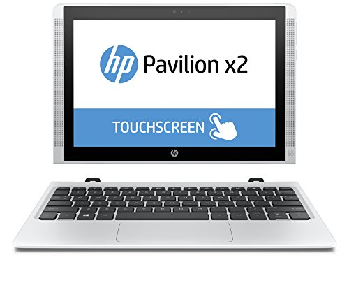 HP Pavilion x2 10-n106nl Notebook Convertibile 2 in 1, Processore Intel Atom Z8300, RAM 2 GB, eMMC da 32 GB, Intel Graphics HD, Windows 10, Bianco